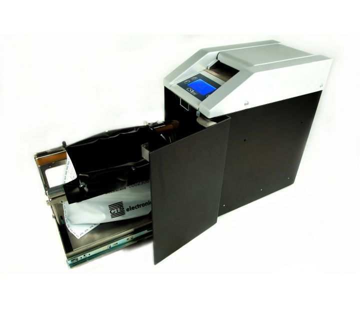 CS1One Cash Loss Prevention System Machine Open Perspective